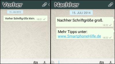 bei whatsapp schrift ändern