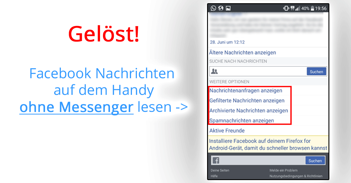 Facebook Ohne Messenger